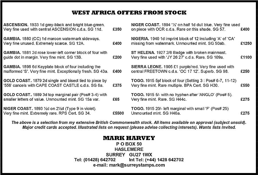Mark Harvey advert